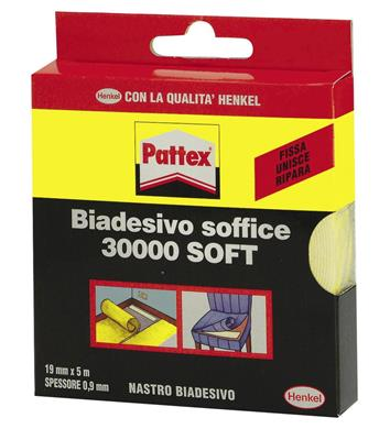 BIADESIVO SOFT PATTEX C.30000 MT.10 H.MM.25